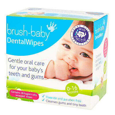 Brush-Baby Dental Wipes Gentle Oral Care for Baby's Gums and Teeth - 28s