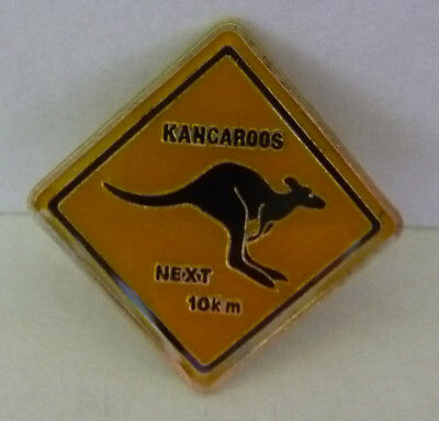 Australian KANGAROO PIN Road Sign for Hat Lapel **NEW**