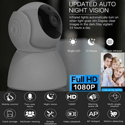 1080P Wireless Wifi IP Camera CCTV Security Webcam Home Baby/Pet Monitor CAM
