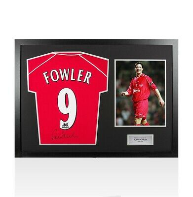 Framed Robbie Fowler Signed Liverpool Shirt 2000-2001 Number 9 - Panoramic