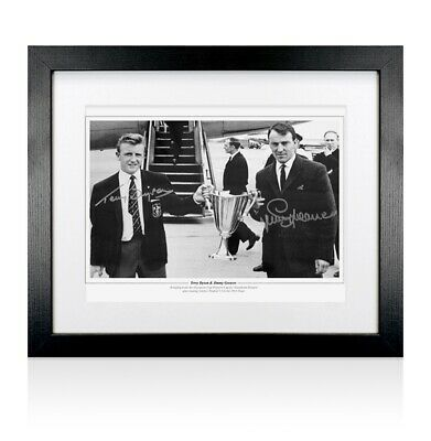 Framed Terry Dyson and Jimmy Greaves signed Spurs print - Cup Winners' Cup