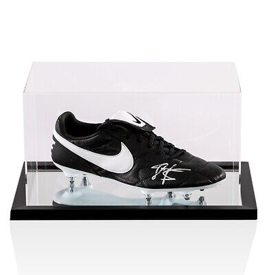 John Barnes Signed Football Boot Nike - In Acrylic Case Autograph Cleat