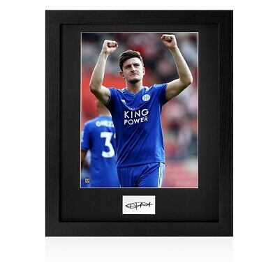 Framed Harry Maguire Signed Card - Leicester City Autograph