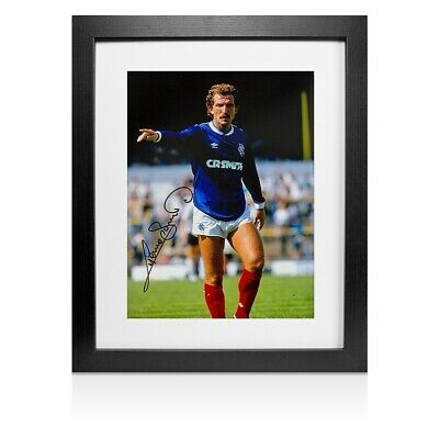 Framed Graeme Souness Signed Rangers Photo Autograph
