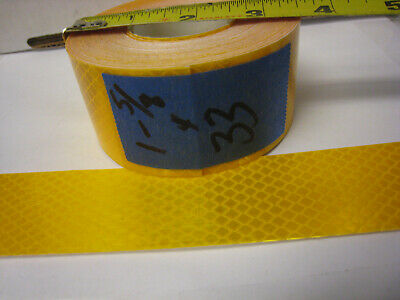 "3M BRAND # 4091 AMBER YELLOW GOLD ROLL  REFLECTIVE TAPE  1-5/8"" x 33' CUSTOM CUT"