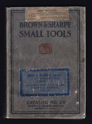 1924 Brown & Sharpe Small Tools Catalogue 29 Micrometers Gauges Cutters etc etc