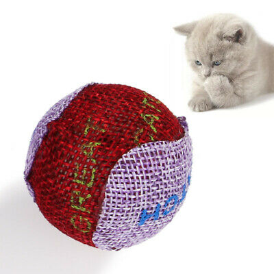 1pc Pet Dog Puppy Cat Kitten Toy Little Colorful Ball Sound Toy Interactive Toy