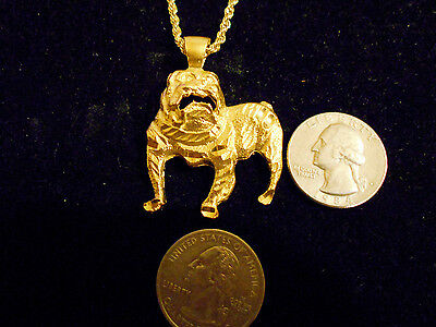 bling gold plated bulldog MASCOT FASHION JEWELRY pendant charm hip hop necklace
