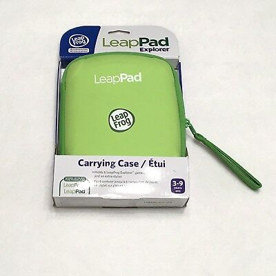 Leap Frog LeapPad2 Explorer Green Carry Case Only (works w/ Leappad 2 Only) NIB