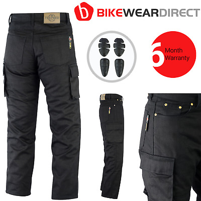 Motorbike Biker Jeans Trousers Made With Kevlar Motorcycle CE Armoured Cargo