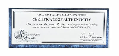 First Commemorative Mint Civil War Coin and Bullet Collection 1837-2011