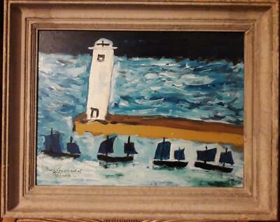 'four Luggers Out Of Penzance' - Amazing Cornish/newlyn School Abstract Study