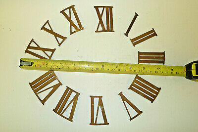 Vintage set of Brass ROMAN NUMERALS for CLOCK dial etc.,