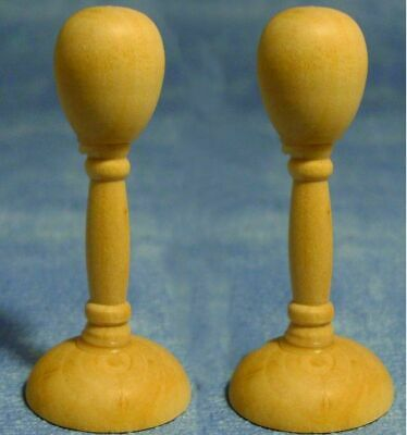 1/12 Streets Ahead Dolls House pair/pack of 2 large wooden hatstands D1691