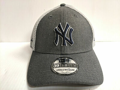 0b8b889d8a3 New York Yankees Cap New Era 39Thirty Stretch Fit Mesh Heather Front Neo Hat