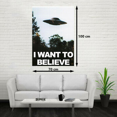 POSTER I WANT TO BELIEVE, EXPEDIENTE X 100x70cm EXCELENTE CALIDAD, ENVIO GRATIS