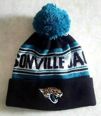 0cce419280d JACKSONVILLE JAGUARS Youth Hat Raised Cuff Knit Cap Pom Embroidered Logo NFL  New