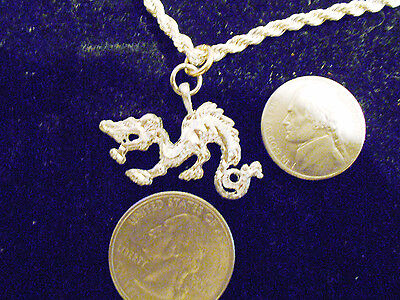 bling silver plated MYTH LEGEND PAGAN dragon CELT pendant charm necklace JEWELRY