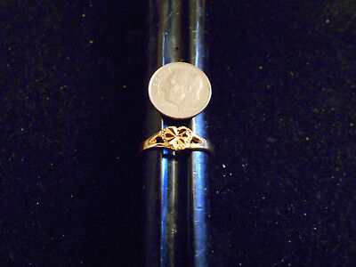 bling gold plated ICED OUT cubic SOLITAIRE FASHION ring hip hop JEWELRY GP SZ 4