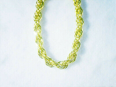 bling gold plated FASHION JEWELRY 4mm 30inch long rope chain necklace hip hop GP