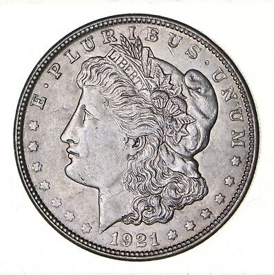 1921 - Morgan Silver Dollar - Last Year - 90% - US Coin *150