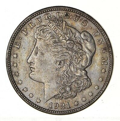 1921 - Morgan Silver Dollar - Last Year - 90% - US Coin *165