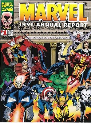 Marvel Annual Report 1991 Comic Story Neat Book On The Company Spiderman 2099