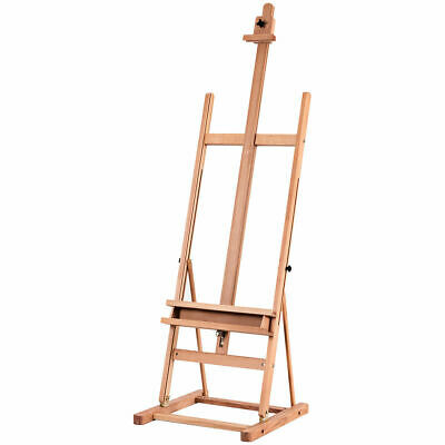 H-Frame Wood Artist Painting Floor Easel Display Stand Adjustable Paint Tray New