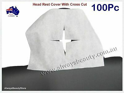 100Pc Disposable Non Woven Face Rest Cradle Covers With Cross Cut For Massage