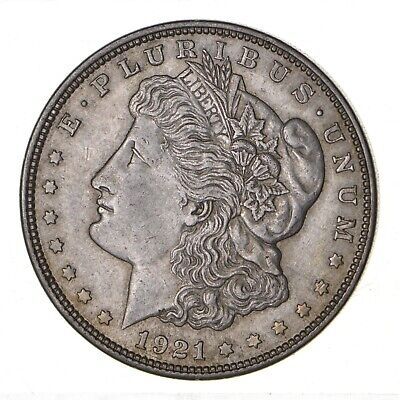 1921 - Morgan Silver Dollar - Last Year - 90% - US Coin *149