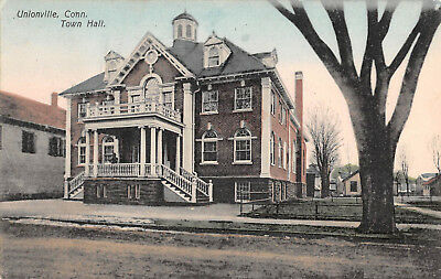 UNIONVILLE, CT ~ TOWN HALL ~ A. SCHMELZER CO., PUB. ~ used 1910