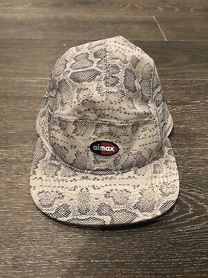 b7501f62ee9cc Supreme Nike Camp Cap Running Hat Air Max 97 New Snakeskin Red Black Navy  Turbo