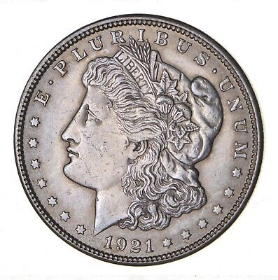 1921 - Morgan Silver Dollar - Last Year - 90% - US Coin *141