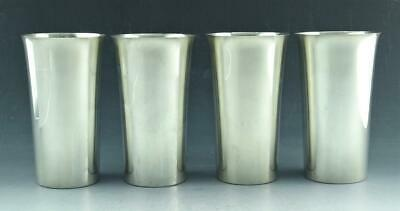 Matched Set Of 4 Antique Whiting Sterling Silver Mint Julep Cups #45 No Mono Nr!