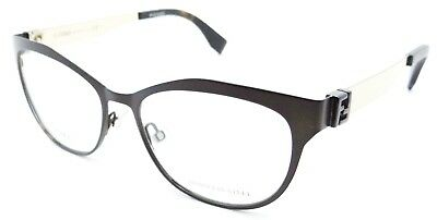 c75a9d1a294 Fendi Rx Eyeglasses Frames FF 0114 H2O 53-16-140 Matte Brown Gold Made