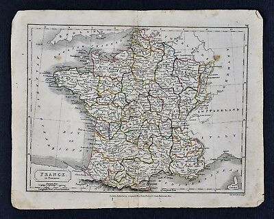 1840 French Map Of Pre War Mexico Texas Wall Art Poster History Home