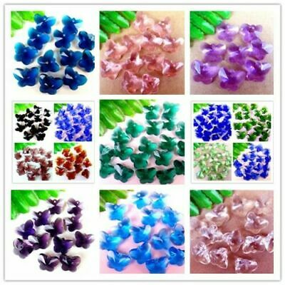 30Pcs Multicolor Choice Crystal Glass Butterfly Pendant Bead 15x12x8mm BR41