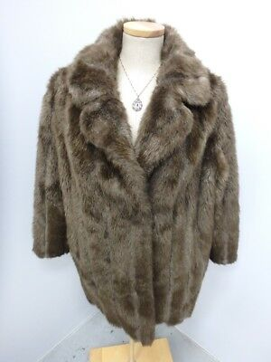 Brown Mink Faux Fur Women's Coat Jacket Size: Large Marno Mink 27942
