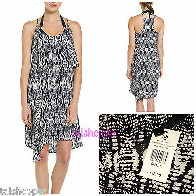 eb64b8b6b97ef VIX Paula Hermanny Tapajos Grace Swimsuit Bikini Cover Up Dress Top NWT L  $198