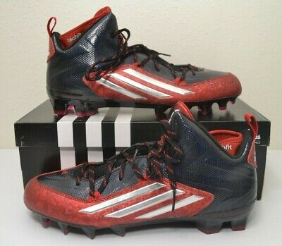 free shipping dafa8 3f88a NIB Adidas Crazyquick 2.0 Mid Football Cleats Black Power Red Size 12 S83961