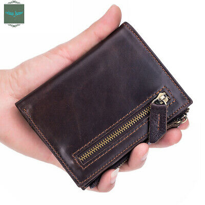 Mens Genuine Leather Bifold Credit ID Card Holder Wallet Billfold Purse Clutch