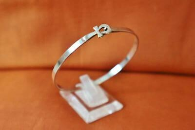 Amazing Vintage Egyptian Solid Sterling Silver Bracelet Cross ANKH Key_STAMPED