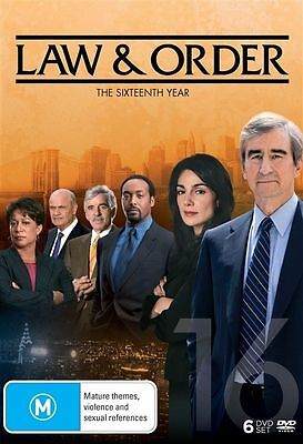 Law And Order: Season 16 (DVD, 2017, 6-Disc Set), NEW SEALED AUSTRALIAN RELEASED