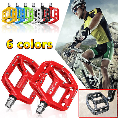 Bicycle Mountain Road Mtb Bmx Bike Cycle Bearing Alloy Flat Platform Pedals 9/16