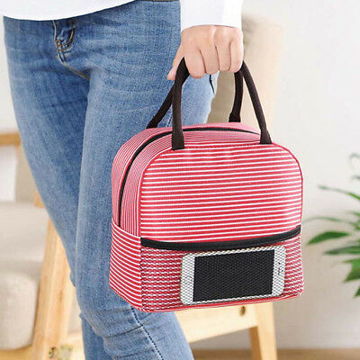 Women Men Insulated Thermal Cooler Lunch Box Tote Case Storage Carry Bag BS