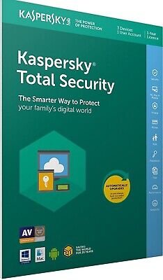 Kaspersky Total Security 2019 1 PC 1Year Download Full Version Send via Email EU