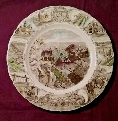State of Arizona Souvenir Plate Johnson Brothers English Ironstone Color Images
