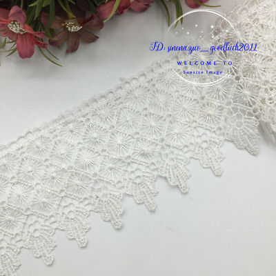 1 yard  Polyester Lace Trim Ribbon Appliques Embroidered Dress Sewing Crafts DIY