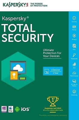 Kaspersky Total Security 2019 / 1 Device / 1 Year / Fast Delivery / Best Deal