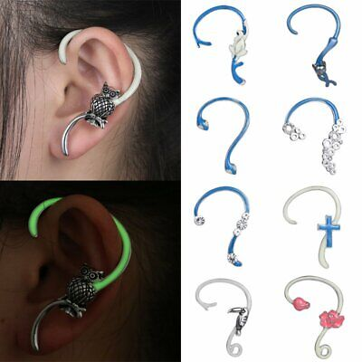 1pc Fashion Glow In The Dark Crystal Enamel Earrings Hook Women Jewellery Gift